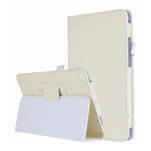 Чехол книжка подставка с рамочной защитой экрана и магнитной защелкой для Xiaomi Mi Pad 4  Белый