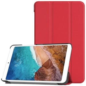 Сегментарный чехол книжка подставка на непрозрачной поликарбонатной основе для Xiaomi Mi Pad 4 Красный