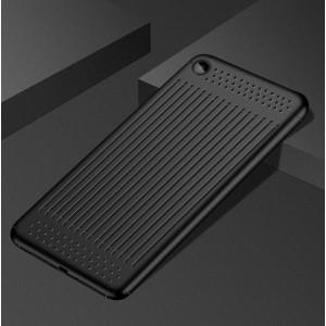 Силиконовый матовый полупрозрачный чехол текстура Линии для Xiaomi Mi Pad 4  Черный