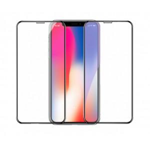 Полноэкранное ультратонкое износоустойчивое сколостойкое олеофобное защитное стекло-пленка для Iphone Xr Черный