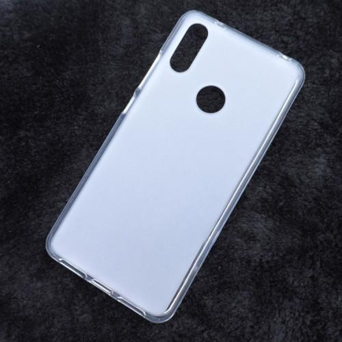 Силиконовый матовый полупрозрачный чехол для Alcatel 5V Белый