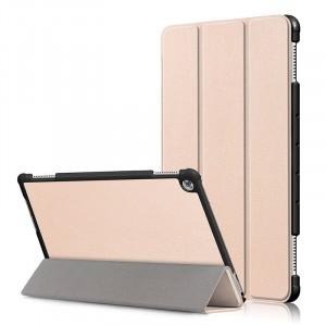 Сегментарный чехол книжка подставка на непрозрачной поликарбонатной основе для Huawei MediaPad M5 Lite