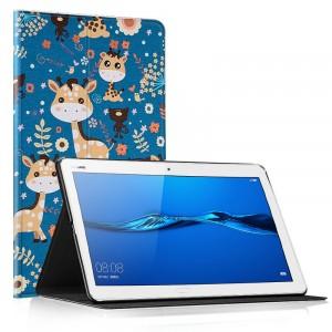 Чехол книжка подставка на непрозрачной поликарбонатной основе с полноповерхностным принтом для Huawei MediaPad M5 Lite