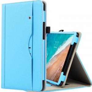 Чехол книжка подставка с рамочной защитой экрана, крепежом для стилуса, отсеком для карт и поддержкой кисти для Xiaomi Mi Pad 4 Plus