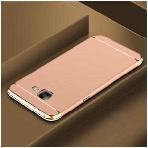 Двухкомпонентный пластиковый непрозрачный матовый сборный чехол для Samsung Galaxy A5 (2017)  Бежевый