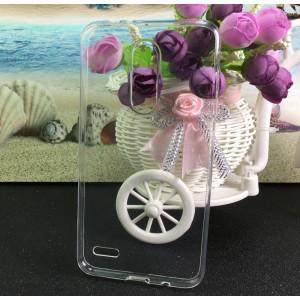 Силиконовый глянцевый транспарентный чехол для LG K11 Plus