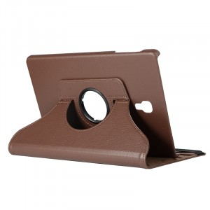 Роторный чехол книжка подставка на непрозрачной поликарбонатной основе для Samsung Galaxy Tab A 10.5  Коричневый