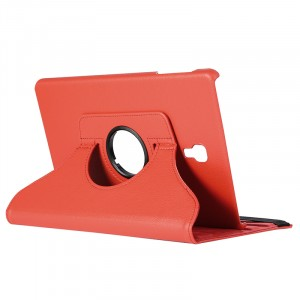 Роторный чехол книжка подставка на непрозрачной поликарбонатной основе для Samsung Galaxy Tab A 10.5  Красный