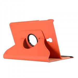 Роторный чехол книжка подставка на непрозрачной поликарбонатной основе для Samsung Galaxy Tab A 10.5  Оранжевый