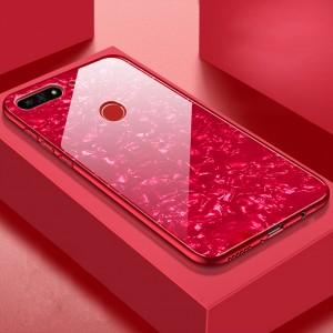 Силиконовый матовый непрозрачный чехол с поликарбонатной накладкой и текстурным покрытием Камень для Huawei Honor 7A Pro/7C/Y6 Prime (2018) Красный