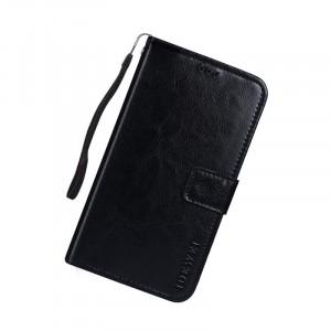 Глянцевый чехол портмоне подставка на силиконовой основе с отсеком для карт на магнитной защелке для Huawei Honor 7A Pro/7C/Y6 Prime (2018) Черный