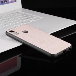 Силиконовый матовый непрозрачный чехол с текстурным покрытием Ткань для Huawei P20 Lite