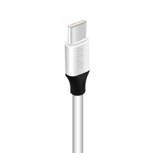 Интерфейсный кабель USB Type-C 1м с допзащитой от перетирания Белый