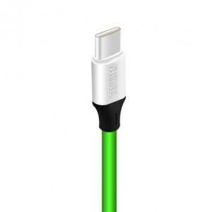 Интерфейсный кабель USB Type-C 1м с допзащитой от перетирания Зеленый