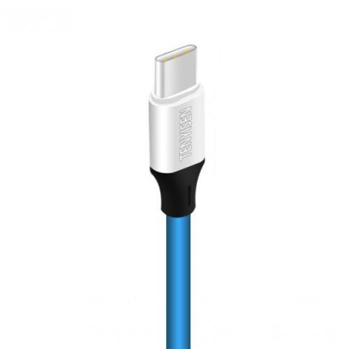Интерфейсный кабель USB Type-C 1м с допзащитой от перетирания Синий