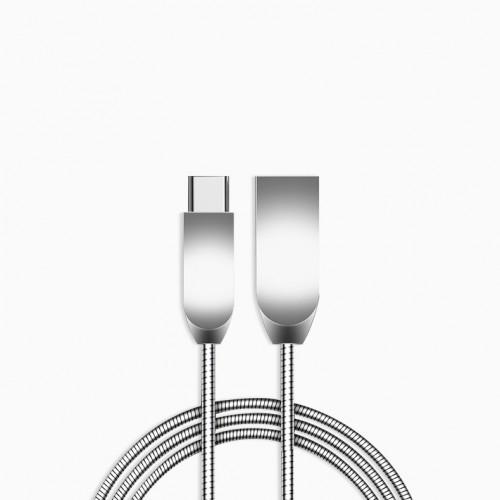 Интерфейсный кабель USB Type-C в металлической оплетке 1м
