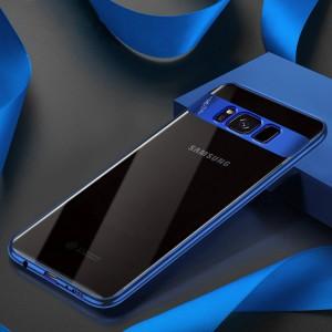 Силиконовый глянцевый полупрозрачный чехол для Samsung Galaxy S8