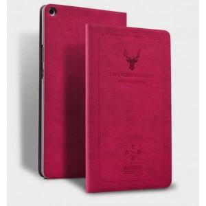 Винтажный чехол книжка подставка на непрозрачной поликарбонатной основе с декоративным тиснением для Xiaomi Mi Pad 4 Plus