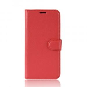 Чехол портмоне подставка на силиконовой основе с отсеком для карт на магнитной защелке для Huawei Honor 8X Красный