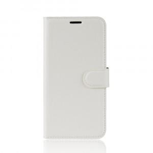 Чехол портмоне подставка на силиконовой основе с отсеком для карт на магнитной защелке для Huawei Honor 8X Белый