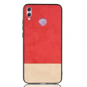 Силиконовый матовый непрозрачный чехол с текстурным покрытием Ткань для Huawei Honor 8X Красный