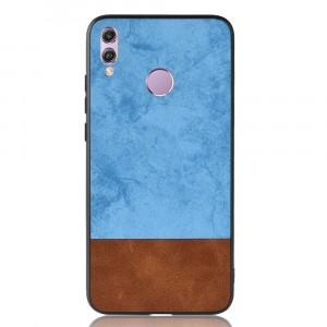 Силиконовый матовый непрозрачный чехол с текстурным покрытием Ткань для Huawei Honor 8X Синий