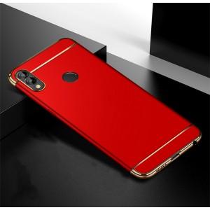 Двухкомпонентный пластиковый непрозрачный матовый сборный чехол для Huawei Honor 8X  Красный
