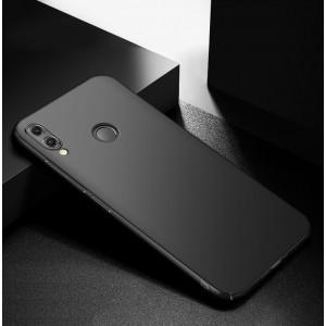 Пластиковый непрозрачный матовый чехол с улучшенной защитой элементов корпуса для Huawei Honor 8X  Черный
