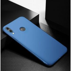 Пластиковый непрозрачный матовый чехол с улучшенной защитой элементов корпуса для Huawei Honor 8X  Синий