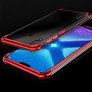 Силиконовый глянцевый полупрозрачный чехол с усиленными углами для Huawei Honor 8X Красный