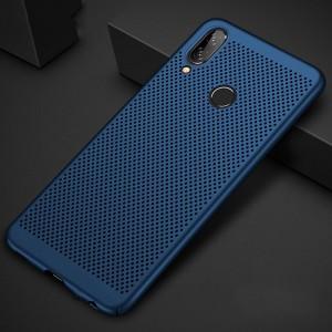 Пластиковый непрозрачный матовый чехол с текстурным покрытием Точки для Huawei Honor 8X Синий