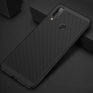 Пластиковый непрозрачный матовый чехол с текстурным покрытием Точки для Huawei Honor 8X Черный