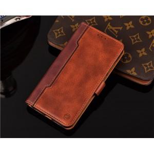 Чехол портмоне подставка на силиконовой основе с отсеком для карт на магнитной защелке для Xiaomi RedMi Note 5/5 Pro Бежевый