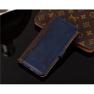 Чехол портмоне подставка на силиконовой основе с отсеком для карт на магнитной защелке для Xiaomi RedMi Note 5/5 Pto