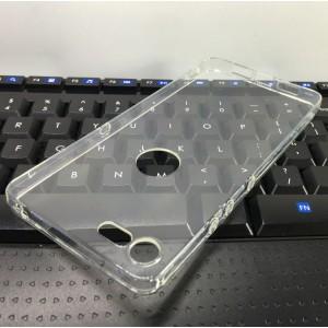 Силиконовый глянцевый транспарентный чехол для Smartisan U3 Pro