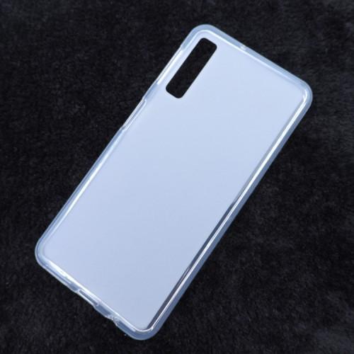 Силиконовый матовый полупрозрачный чехол для Samsung Galaxy A7 (2018)