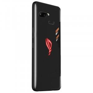 Силиконовый матовый непрозрачный чехол для ASUS ROG Phone Черный