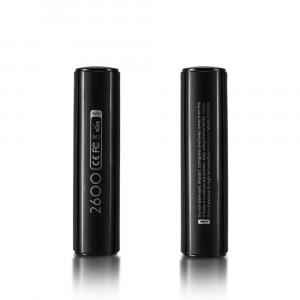 Ультракомпактное портативное зарядное устройство 2600 мАч с USB разъемом (5V/1A) и LED-индикатором процесса заряда дизайн Батарейка Черный