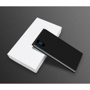 Портативное зарядное устройство 10000mAh с 1 USB разъемом (5V/2.1А) и LCD-экраном Черный