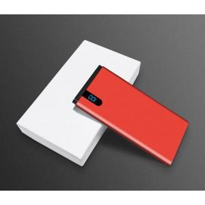 Портативное зарядное устройство 10000mAh с 1 USB разъемом (5V/2.1А) и LCD-экраном Красный