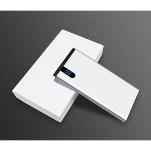 Портативное зарядное устройство 10000mAh с 1 USB разъемом (5V/2.1А) и LCD-экраном Белый