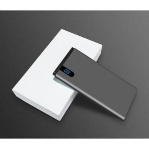 Портативное зарядное устройство 10000mAh с 1 USB разъемом (5V/2.1А) и LCD-экраном Серый