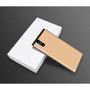 Портативное зарядное устройство 10000mAh с 1 USB разъемом (5V/2.1А) и LCD-экраном Бежевый
