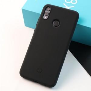 Силиконовый матовый непрозрачный чехол с нескользящим софт-тач покрытием для Huawei Honor 8X Черный
