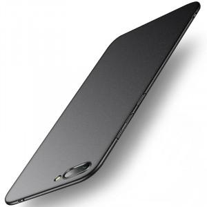 Пластиковый непрозрачный матовый чехол с повышенной шероховатостью для Huawei Honor 10 Черный
