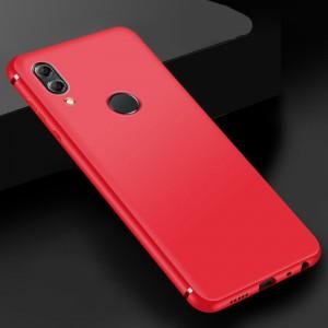 Силиконовый матовый непрозрачный чехол для Huawei Honor 8X Красный