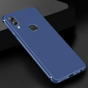 Силиконовый матовый непрозрачный чехол для Huawei Honor 8X Синий