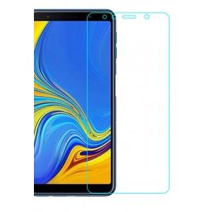 Ультратонкое износоустойчивое сколостойкое олеофобное защитное стекло-пленка для Samsung Galaxy A7 (2018)