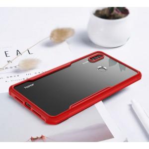Силиконовый глянцевый полупрозрачный чехол для Huawei Honor 8X Красный