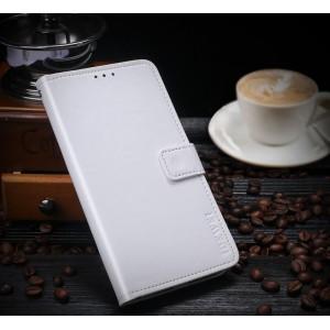 Глянцевый водоотталкивающий чехол портмоне на силиконовой основе с отсеком для карт на магнитной защелке для Huawei Honor 8X Белый